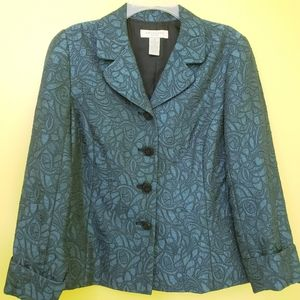 Appleseed's metallic blue green textured blazer
